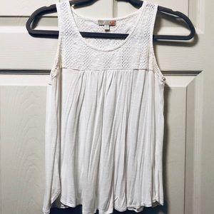 Gianni Bini Boho Eyelet Open Back Sleeveless Top